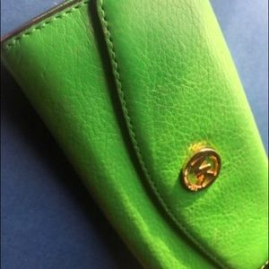 Michael Korea's Wallet Green Leather